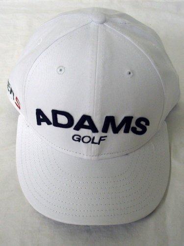 Adams Golf Super S Fitted Hat 5950 (White, 7 1/2) Flat Bill Cap
