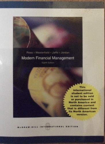 Modern Financial Management (International Edition) Edition: Eighth