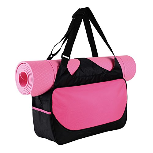 Yoga Bag, Women Shoulder Bags for the Essentials YUIOP Tote Bags Waterproof Yoga Mat Carrier Gym Bag Stylish Lightweight