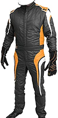 K1 Race Gear SFI 3.2a//1 Victory Auto Racing Suit Black//White//Grey, Large//X-Large
