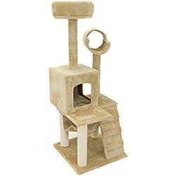 "Deluxe 52"" Cat Tree Tower Condo Scratcher Furniture Kitten House Hammock"