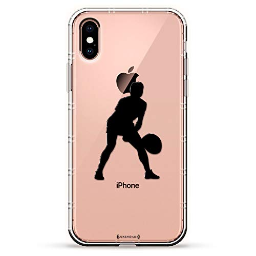 (Sports: Woman Tennis Player Silhouette | Luxendary Air Series Clear case with 3D-Printed Design & Air Cushions for iPhone)