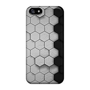Hot Hexagonal First Grade Tpu Phone Case For Iphone 5/5s Case Cover