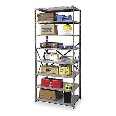 - Hallowell 5713-12HG Heavy-Duty Open Hi-Tech Shelving Starter Unit with 8 Adjustable Shelves, Hallowell Gray Steel, 48
