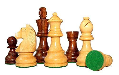 """3.75"""" King Height - Collector Edition Premium Wooden Staunton Chessmen Chess Pieces STAUNTON Standard"""
