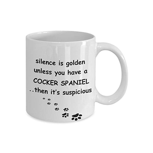 Cocker Spaniel Mug: Silence is Golden American English Dog Coffee Cup 2