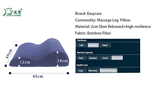 Lying leg cushion pillow - Beauty Salon SPA club decompression leg pillow - slow rebound visco-elastic memory foam shape pillow