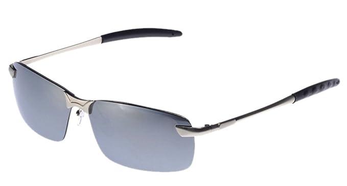 Lukis 1x Wayfarer Sonnenbrille Herren Brille UV-Schutz Clubmaster (Silber) O9UI4