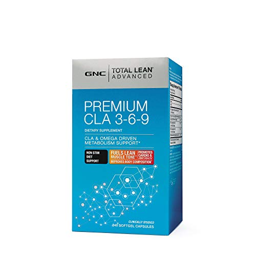 GNC Total Lean Advanced Premium CLA 3-6-9, 240 Capsules, Supports Exercise and Muscle Recovery