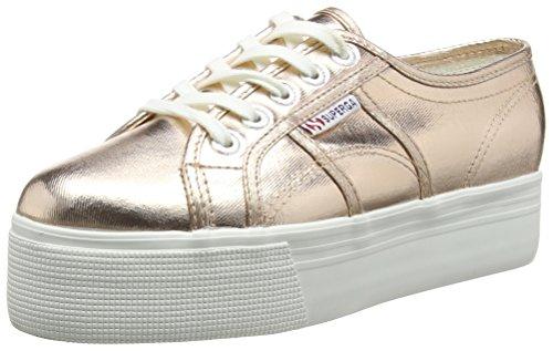 Superga 2790 COTMETW - Zapatillas Mujer Dorado - Gold (Rose Gold)