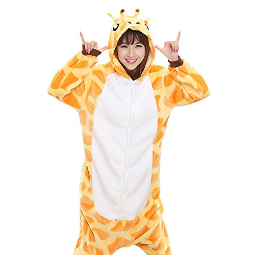 Make It Yourself Costumes For Couples (Unisex Adult Halloween Giraffe Costume, Attractive Animal Onesie Designs)