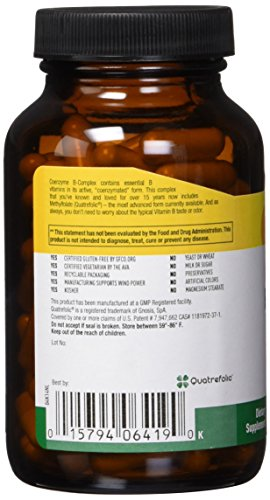 Country Life - Coenzyme B-Complex with Methylfolate - 120 Ve