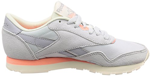 Nylon Multicolore 000 White Spirit Chaussures Homme Cl de Cloud Grey Pink Reebok M Chalk Fitness Retro qp0w5