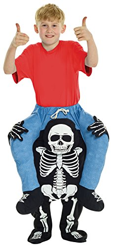 UHC Boy's Skeleton Piggyback Outfit Funny Theme Party Kids Halloween Costume, Child -