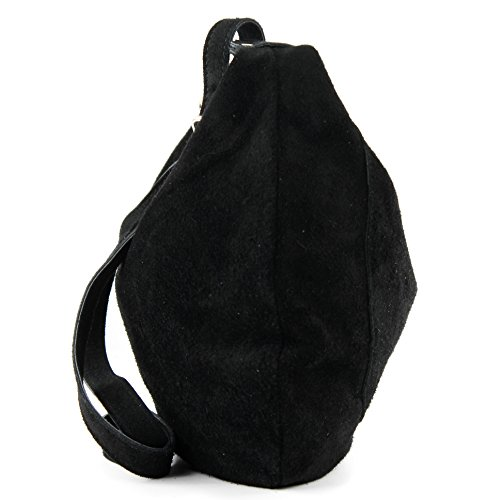 Italian shoulder T02 bag Women's shopper handbag leather suede bag real Black bag 5r1v5w