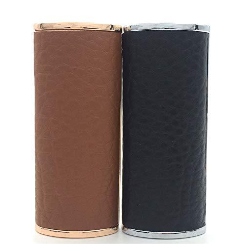 Lucklybestseller 2PCS Set Metal Leather Lighter Case Cover Holder for BIC Full Size Lighter J6