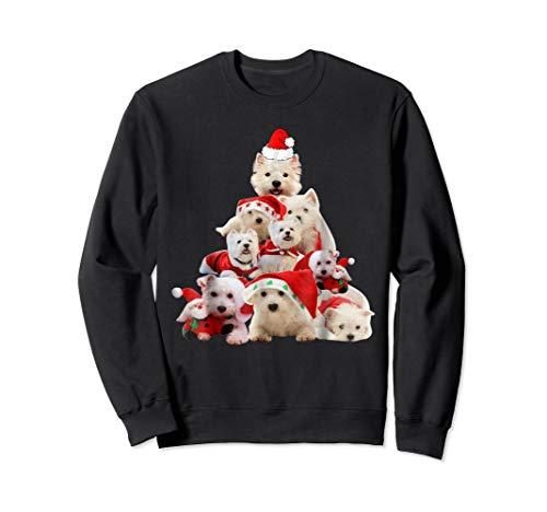 (Westie Christmas Tree T Shirt Xmas Gift For Westie Dog)