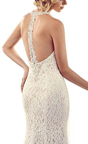 sposa Avorio perfette Linee in da Pizzo GEORGE rilievo cinghie abiti BRIDE 7qvE5cw6x8