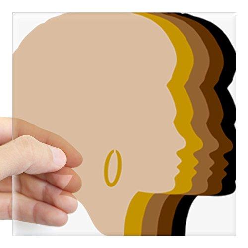 Tone Square Design (CafePress - Women Afro Five Tones Square Sticker 3