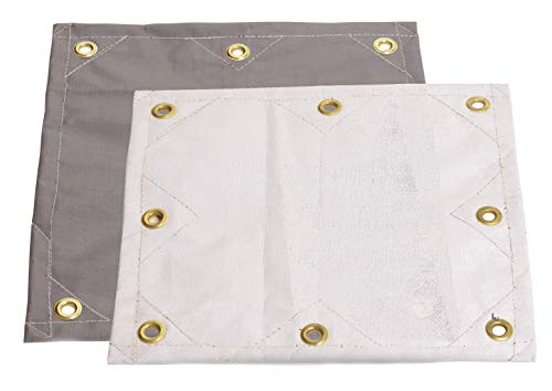 8x14 16.5 MIL Super-Strong Poly Tarp Cover - White/Gray - Water, Mold and Mildew Resistant!