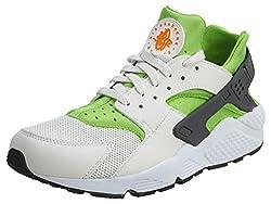 Nike Men's Air Huarache Actn Greenvvd Orng Phntm Wht Running Shoe 10.5 Men Us