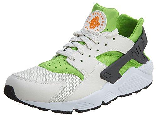Nike Men's Air Huarache Actn Green/Vvd Orng Phntm Wht Running Shoe 10.5 Men US by NIKE