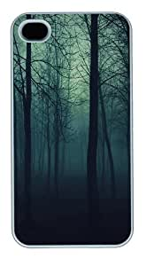 Dark Forest Polycarbonate Plastic Hard Back Case Cover Protector Compatible with iPhone 4s and iPhone 4 White