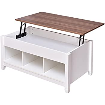 Tangkula Lift Top Coffee Table Modern Living Room Furniture With Hidden  Compartment And Lift Tabletop (