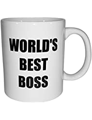 Funny Mug – World's Best Boss – 11 oz Coffee Mug – Humorous Sarcastic Sayings and Jokes and FREE Coaster and Ebook by Bluegrass Mugs