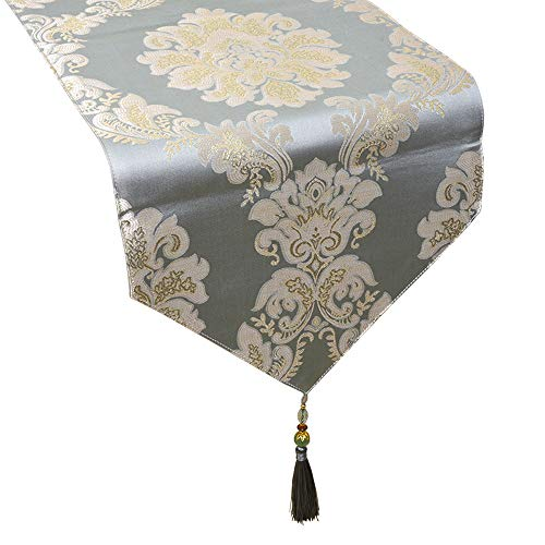 Yoovi Luxury Table Runners with Beads Tassels Table Runners