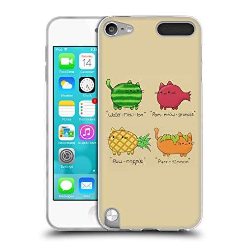 Official 20SomethingArt Fruit Cats Soft Gel Case Compatible for Apple iPod Touch 5G 5th Gen (5 Cases Fruit Silicone Ipod)