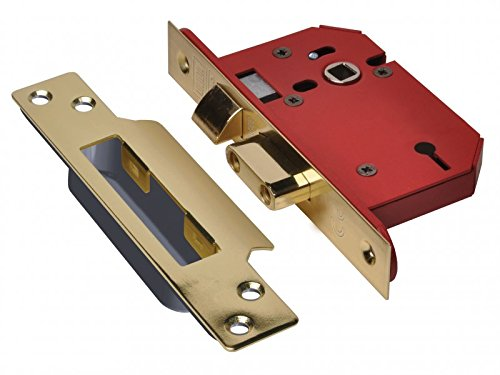 UNION - StrongBOLT 2203S Polished Brass 3 Lever Mortice Sash Lock Visi 79mm 3in