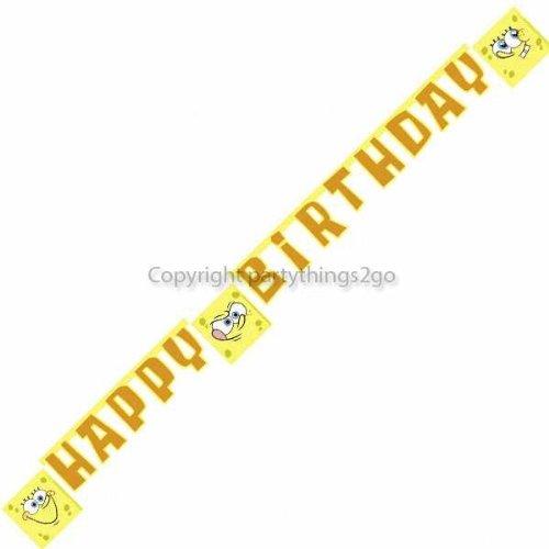 Anagram Spongebob Squarepants Happy Birthday Illustrated Letter Banner -