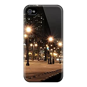 Iphone 4/4s Case Bumper Tpu Skin Cover For Buildings Street Night Lights Urban Accessories