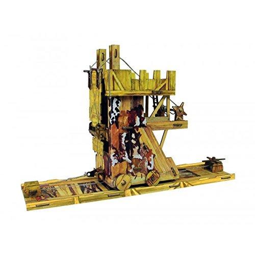 Keranova Keranova336 34 x 8.5 x 21.5 cm Clever Paper Medieval Town Siege Tower 3D Puzzle by Keranova