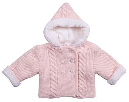 3b2f48068 Pram Coat Baby Jumper Babies Cardigan Sweater Girls Boys Pink Blue ...