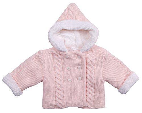 Cochecito Abrigo bebé Jersey Bebés Jersey Cárdigan Niña Niño Rosa Azul Capucha punto chaqueta - Rosa, 6-9 Months: Amazon.es: Ropa y accesorios