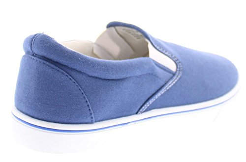 Foam Slip Mens Slip Loafers Blue Slipon Sneakers Men for Doug Walking Medium On Canvas Shoe Memory Ons Shoes Casual Rxnqw