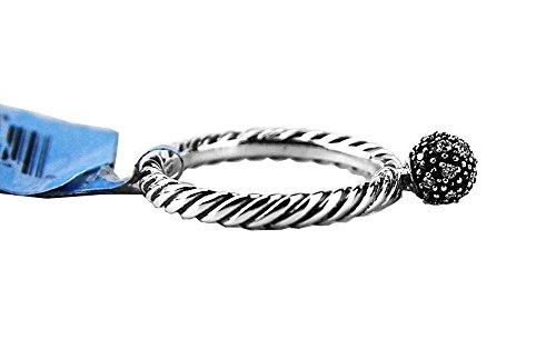 david-yurman-sterling-silver-6-mm-white-diamond-ball-size-8-stack-ring-new-5