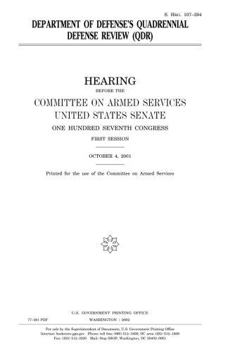 Department of Defense's quadrennial defense review (QDR) PDF