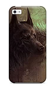 New Arrival Case Cover With FCYTbEN2626GHDLg Design For Iphone 5c- Dark And White Wolves