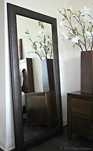 Cheap West Frames Marcello Full Floor Rustic Dark Charcoal Brown Mirror