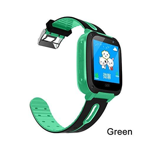 ATell Kids Smart Watch Waterproof SIM Card Dial SOS Camera Children Phone Watch for Baby Safe Locator Anti-Lost Game Kids Smartwatch (Green)