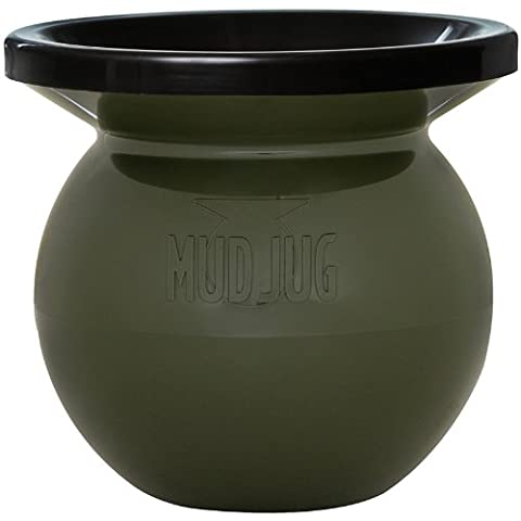 New Olive Drab Mud Jug™ Portable Spittoon (Realtree Camo Rebel Flag)