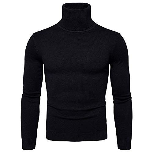 Men Pullover Sweater GREFER Clearance Autumn Winter Warm Turtleneck Long Sleeve Slim Shirt Top