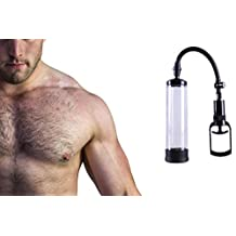 Hiplaygirl Manual Vacuum Penis Pump with Erection and Postpone Ejaculation Shrink ring Air pressure Setting Device improving male erections and penis size
