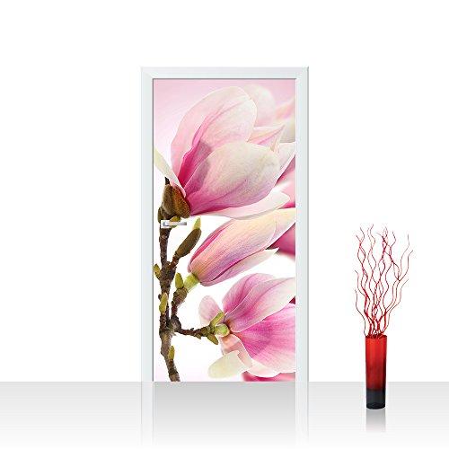 Door Wall Sticker - flowers nature garden - 39.3