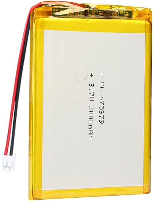 AKZYTUE 3.7V 3000mAh 475979 Lipo Battery Rechargeable Lithium Polymer ion Battery Pack with JST Connector