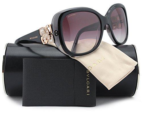 Bvlgari BV8172B Sunglasses Top Black on Grey Crystal w/Vi...