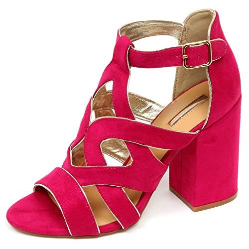 Gaudi E9550 Sandalo Donna Fucsia Scarpe Eco Suede Shoe Woman Fuschia